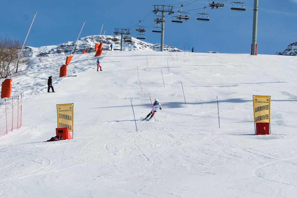 Dans les dernières portes du slalom