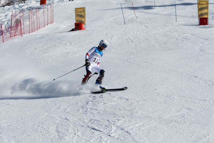 A l'arrivée du slalom