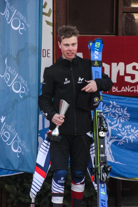 Jules Segers, heureux sur le podium
