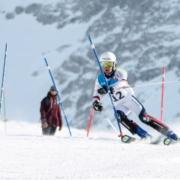 Jules en slalom