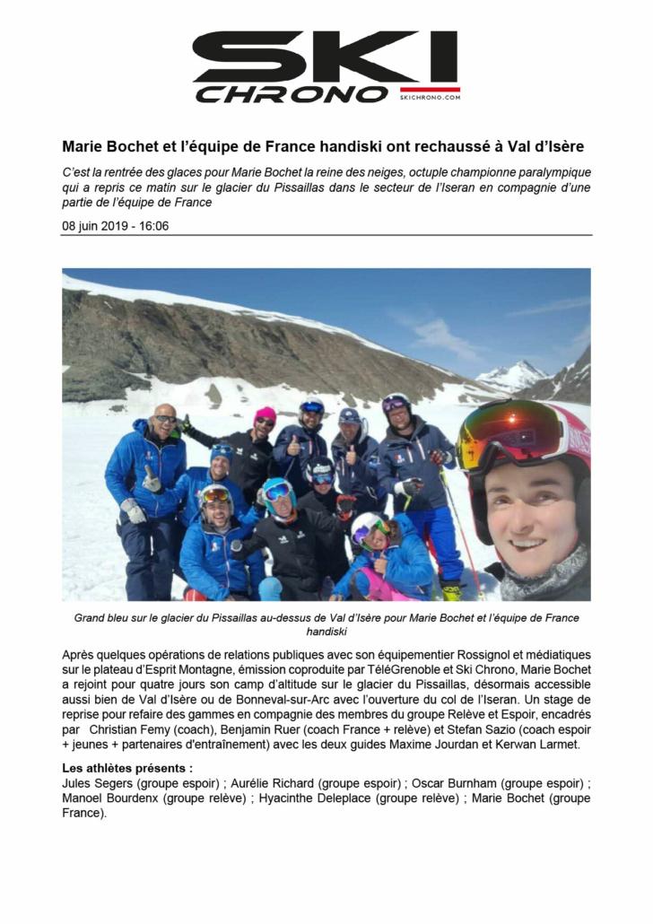 Article Ski Chrono - Printemps 2019