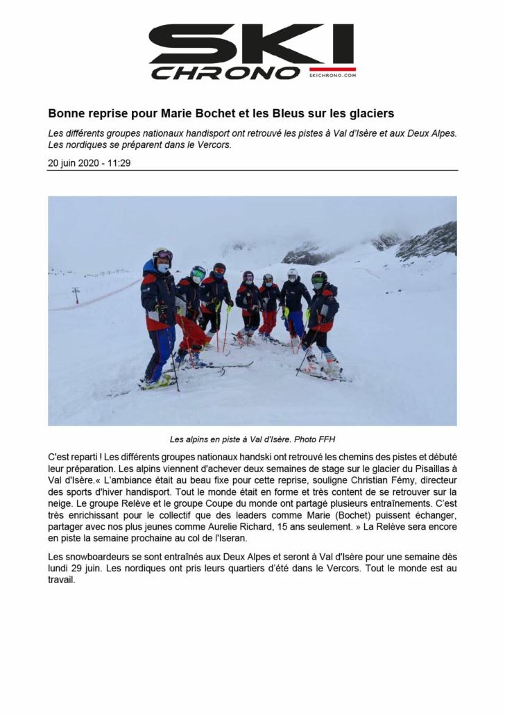 Article Ski Chrono - Printemps 2020